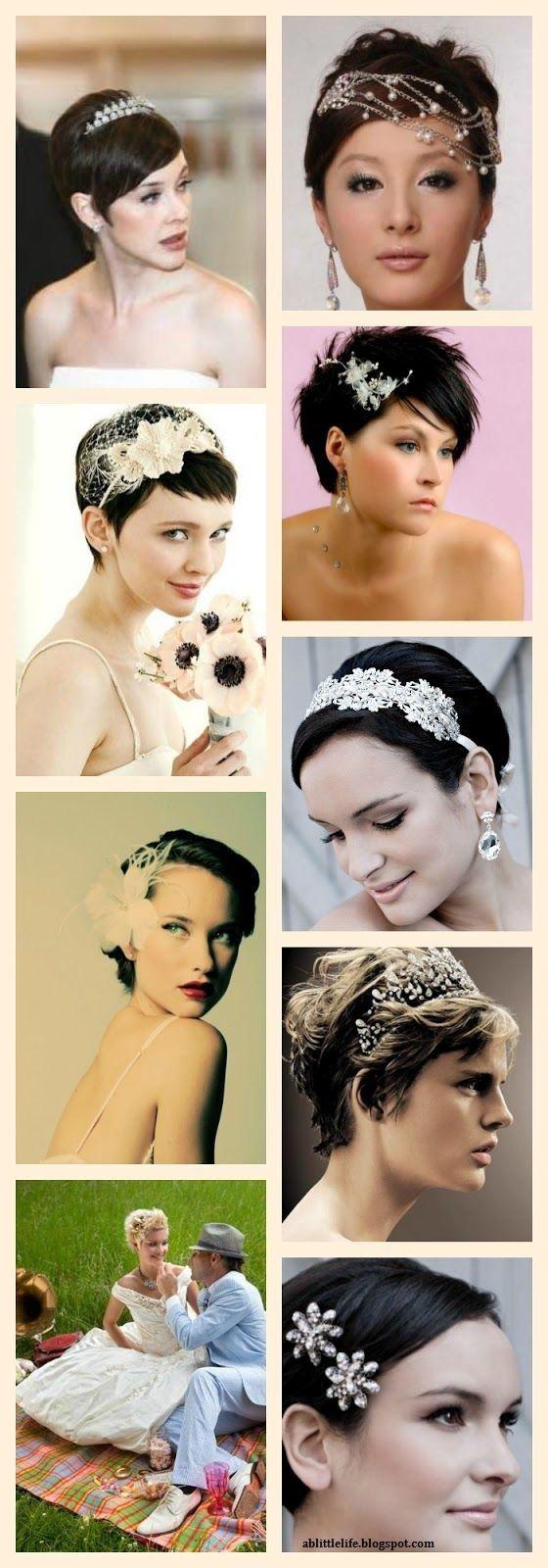 20 mod les de coiffures pour mari es cheveux courts magnifique coiffures other and mariage. Black Bedroom Furniture Sets. Home Design Ideas