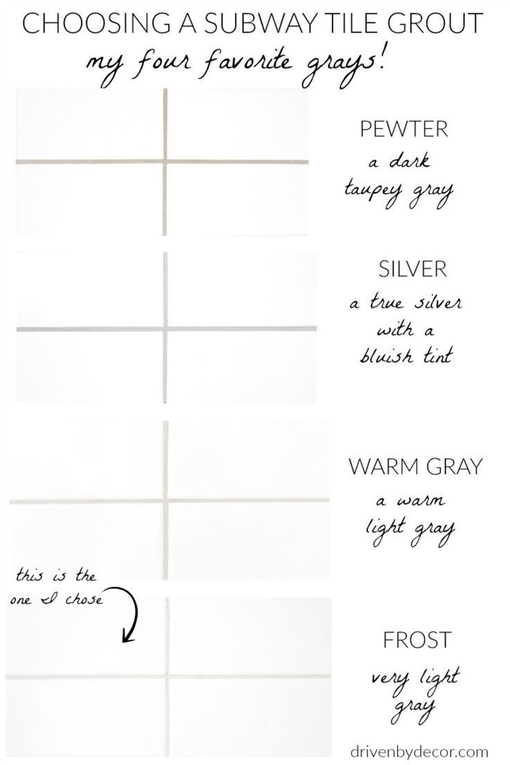 White Subway Tile with Gray Grout: My Favorite Gra…