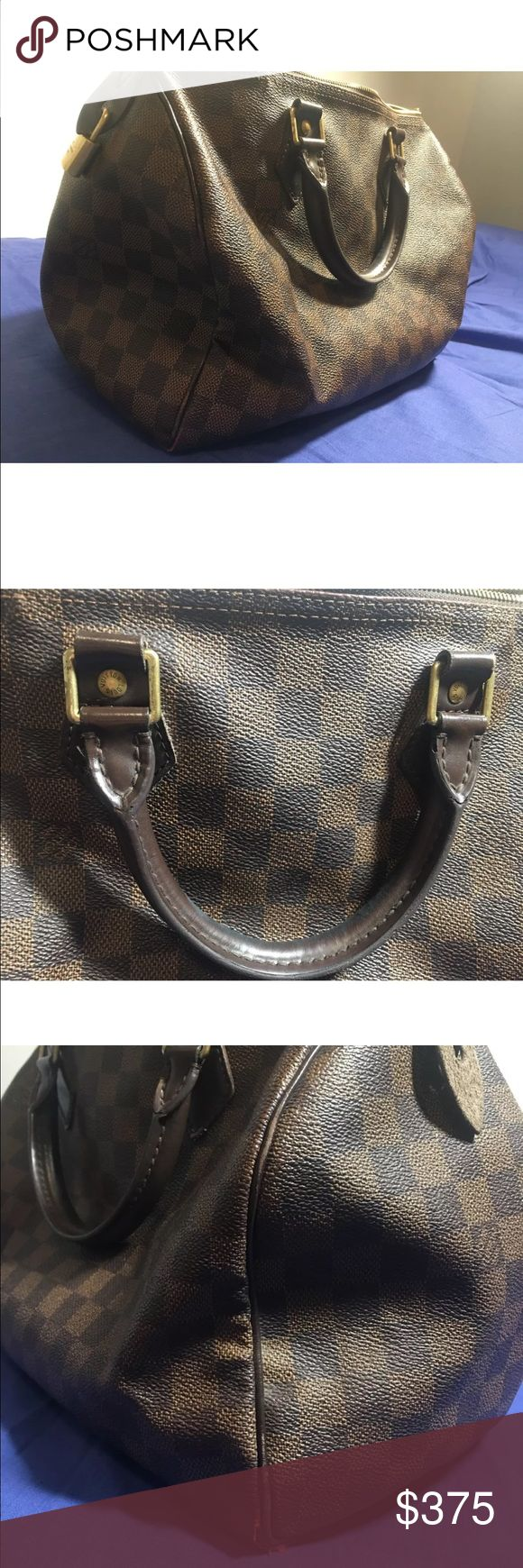 Louis Vuitton speedy bag used Bag is worn, please see pictures. Little damage in the corner, bag is a little stained in the inside. Louis Vuitton Bags