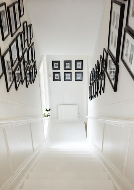 You could cover a lot of family history with a double-sided staircase gallery.