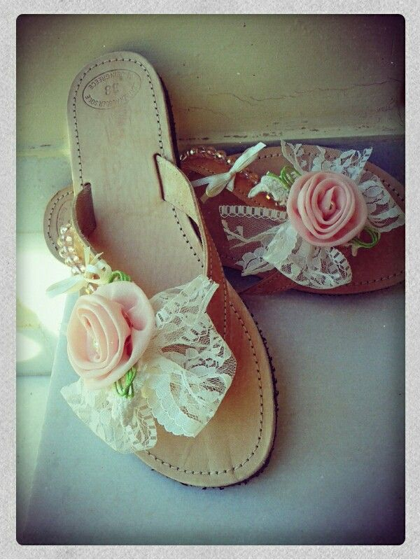 Romantic handmade sandals