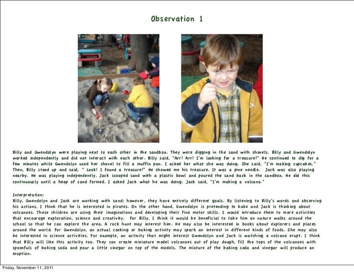 how to write observation essay