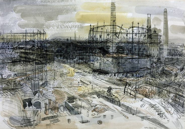 Anthony Gross  Final Stages of the German War: Krupp's Works at Essen 1945