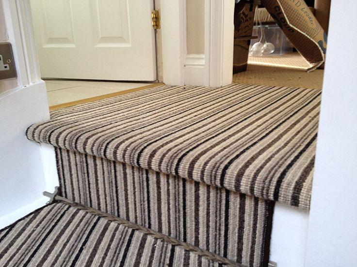 Striped stair carpet home design inspiration pinterest - Striped carpeting ...