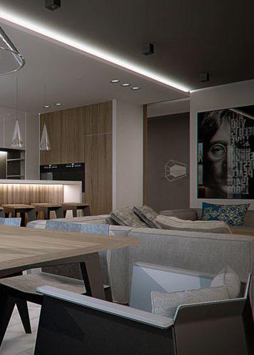 Living room design in Katowice POLAND - archi group. Pokój dzienny w mieszkaniu w Katowicach.
