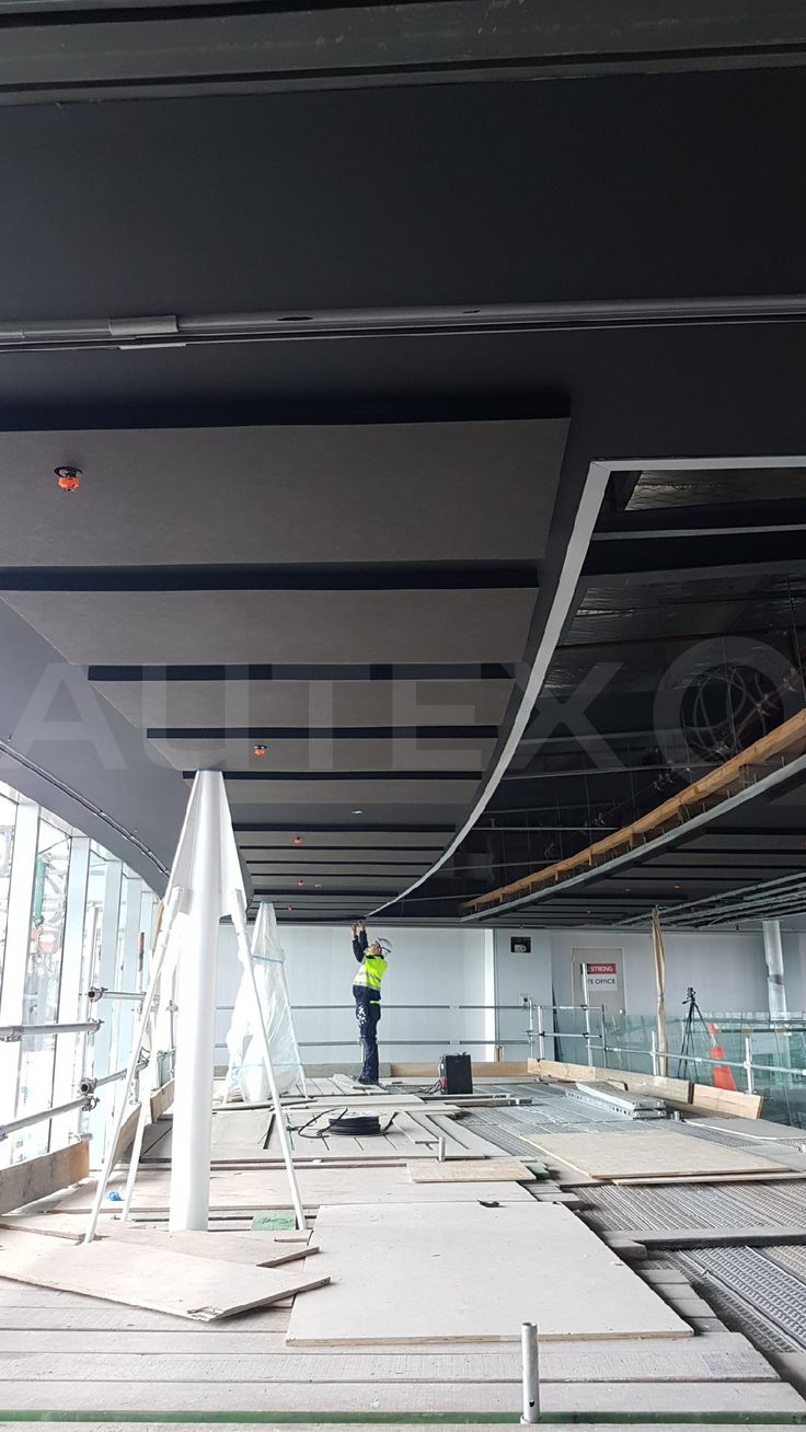 Autex Interior Acoustics - Quietspace® Panel - Colour Black - Smales Farm, Auckland, NZ - Direct fix to ceiling