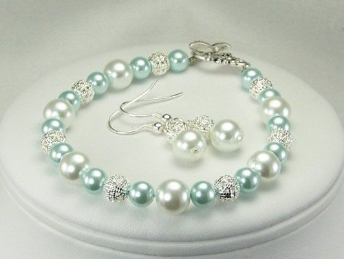 Item B106 Beaded Jewelry Bracelet Set by Jades Creations Handcrafted Beaded Jewelry