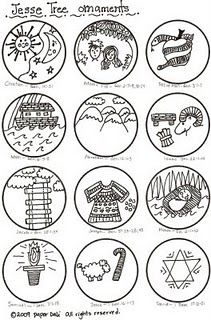 Jesse Tree Printable Ornaments Ready To Color
