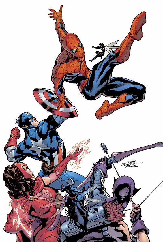 Spider-Man and Avengers by Terry Dodson