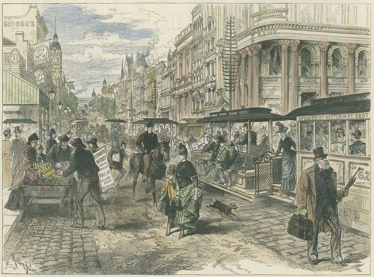Spencer Street, 1889