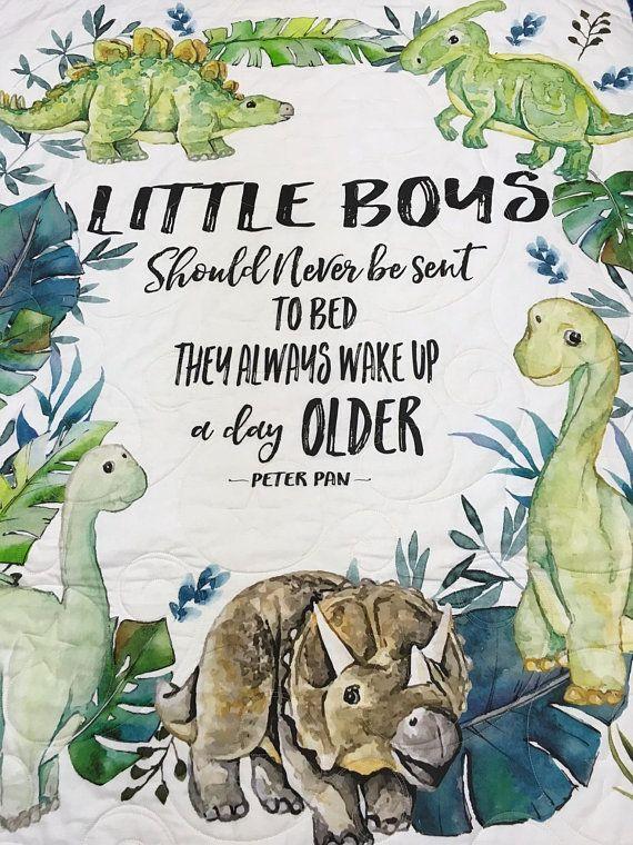 Dinosaur Baby Quilt Boy Crib Blanket Bedding Dinosaurs Nursery Shower Gift