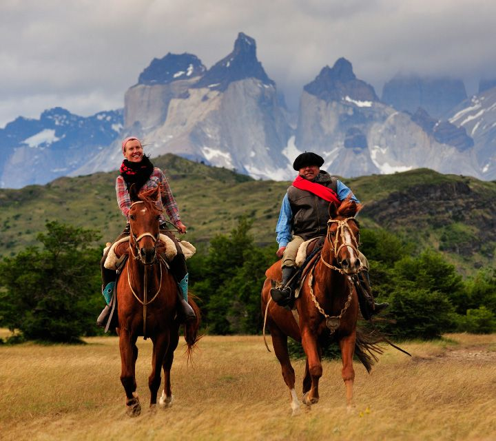 Riding in Patagonia with a guide...