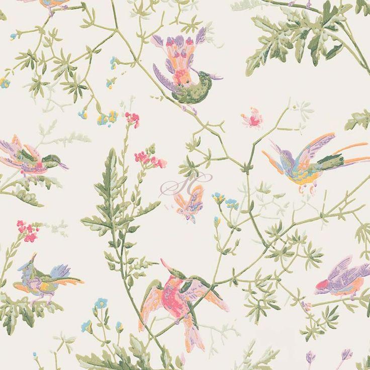 Cole and Son Hummingbird Wallpaper 100-14067 Soft Multi