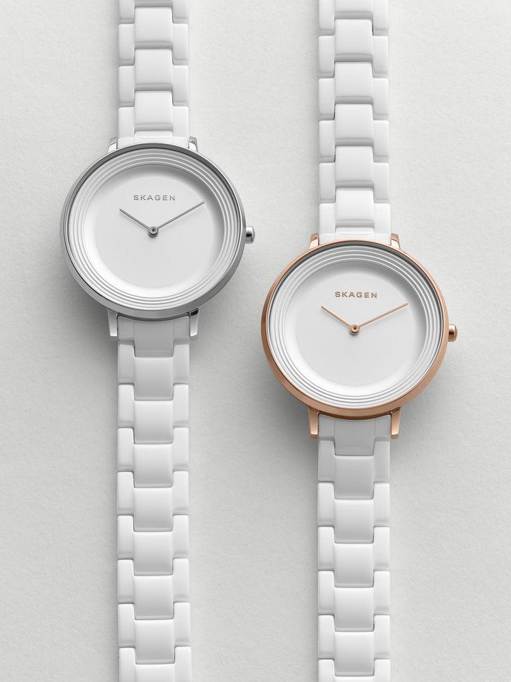 Ditte Ceramic Link Watch Skagen Watches Pinterest