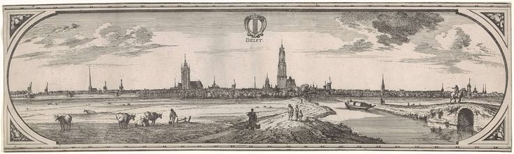 Gezicht op Delft, toegeschreven aan Joost van Geel, 1665