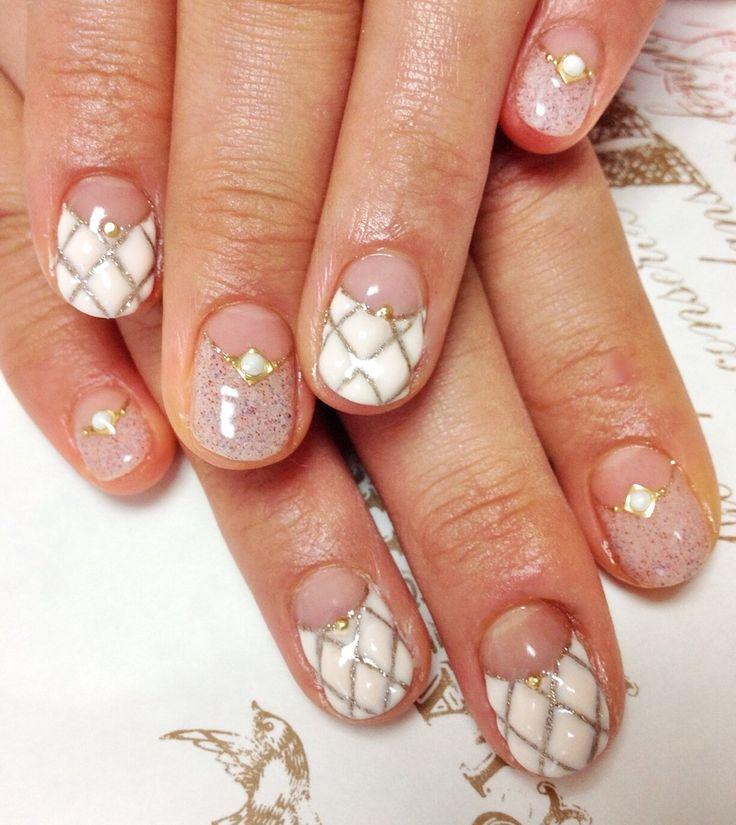 キルティングネイル : Nail atelier Cocon~ nail art & care モコモコキルティングネイル image