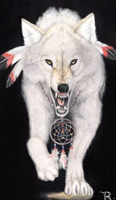 """White Wolf: By living courageously and faithfully, we experience the wonder of being alive, where everything is possible ...""""The Wolves Followed A Path Of Harmony, And They Did Not Like Anything To Upset Their Way."""" """"Wolf Was Chosen By The Great One To Teach The Human People How To Live In Harmony In Their Families. Wolf Was To Teach A Truth, As Each Animal... Would Do Also For The Humans To Survive."""