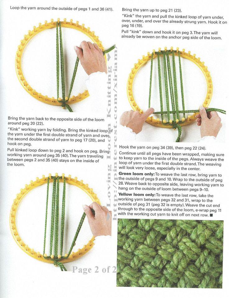 How to weave a circle - Martha Stewart Loom?
