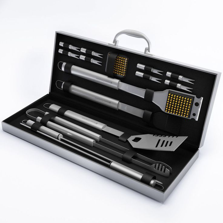 BBQ Grill Tools Set Barbecue Accessories Kit Storage Case Stainless Steel Gift #HomeComplete