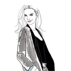 Whistles outfit - Lady fashion illustration by Montana Forbes