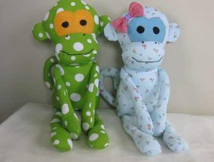 Handmade Cotton Monkey Soft Toy