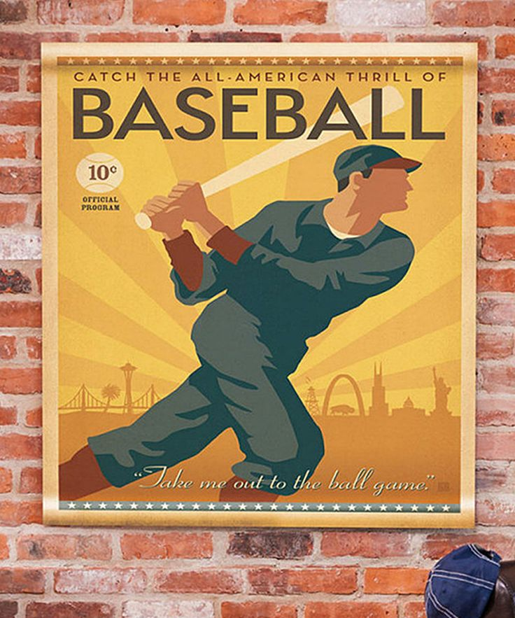 Look at this Baseball Canvas Wall Tapestry on #zulily today!