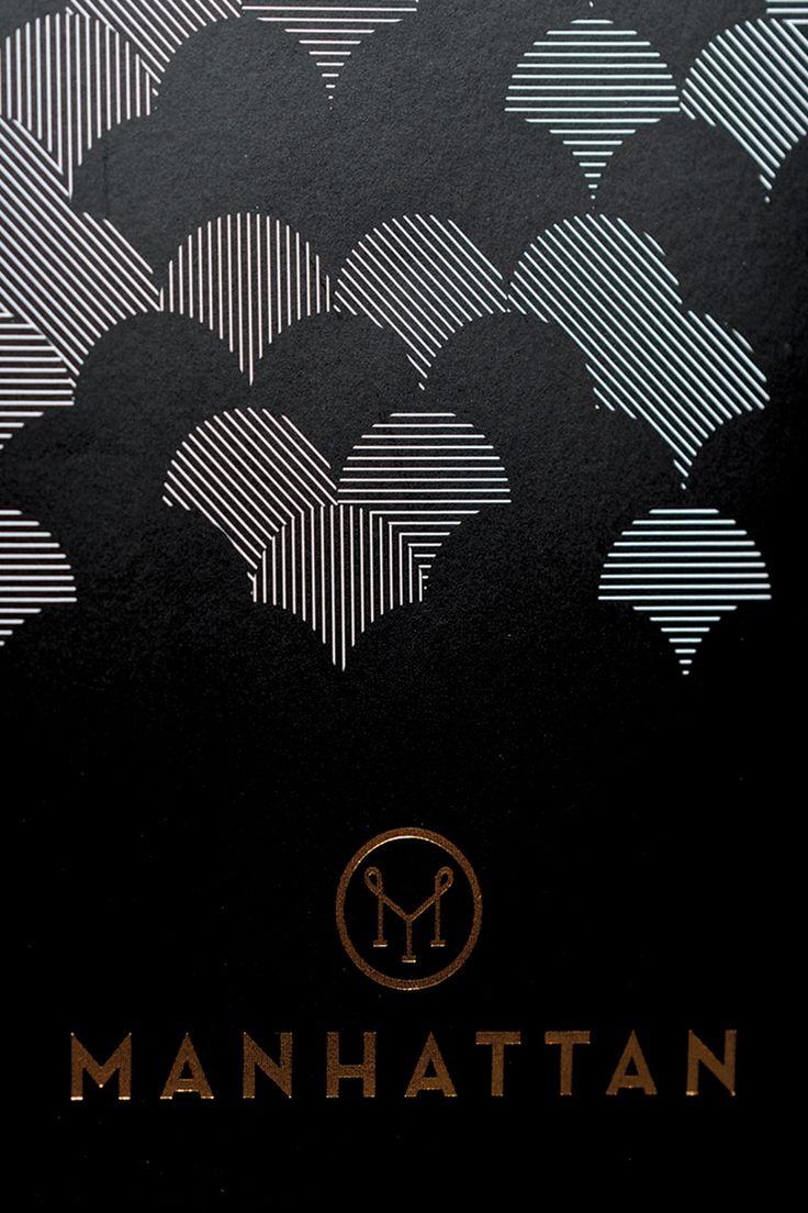 There Design-  Menu Design for Manhattan- Four Seasons Hotel- Singapore  http://there.com.au/work/Manhattan