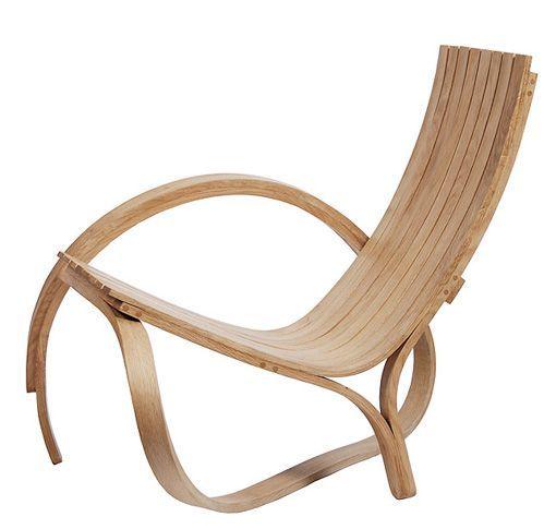 muebles de madera curvada silla arc