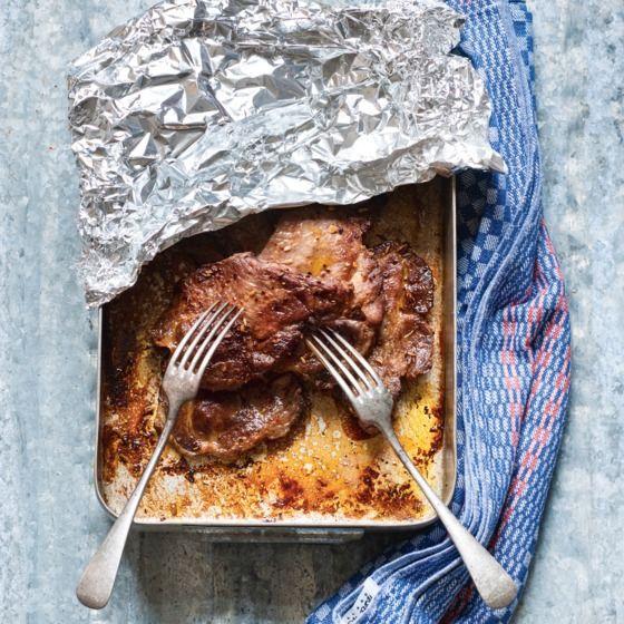 Pulled pork met venkelzaad, knoflook en citroen