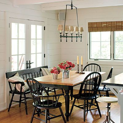 Dining Area Lakeside Cabin Makeover In Kitchen Eat In