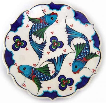 Strange, I don't care much for symmetry but I love images that go around in a circle (16th  Century Iznik tile)