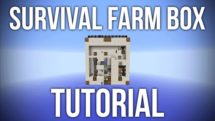 "Minecraft: Survival Farm Box Tutorial - 9 Automatic Farms - Welcome to the tutorial for the survival farm box. 9 Automatic Farms for Survival MInecraft in a compact box. How to use the ""Survival Farm Box"": https://www.youtube.com/watch?v=VRMJzhz327U The Survival Farm Box includes: Fully automatic farms - chicken sugar cane pumpkin melon cactus and wheat Semiautomatic farms - cow rabbit and nether wart farm World Download…"
