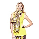 G by Giuliana Rancic Printed Gauze Scarf