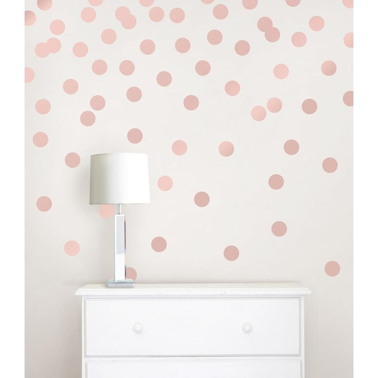 Wallpops 26 in x 48 in rose gold confetti dot 128 piece - Rose gold wandfarbe ...