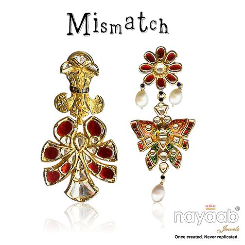 Presenting #Mismatch Collection to promote #genderequality this March! Cause #notthereyet, cause mismatch of No. of girls & boys @ school exists. #gendergap #jewelleryforacause #springmarch #trends #earrings — with Upendra Bothra.