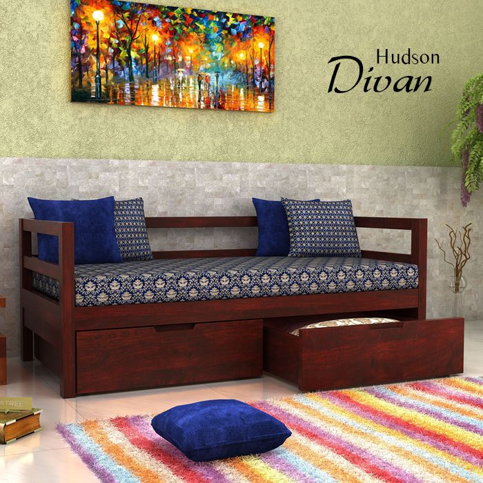 Revamp The #comfort With Stunning #Designs Of #Divans And Add Versatile U0026  Royal · Sofa Cumbed DesignDrawing RoomsSpace Saving BedsIndian HomesWood ...