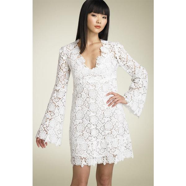 "Diane von Furstenberg ""Hippolyte"" Dress found on Polyvore: Lace Weddings, Wedding Dressses, Fashion, Idea, Lace Wedding Dresses, Short Wedding Dresses, Style, Shorts Wedding Dresses, Lace Dresses"