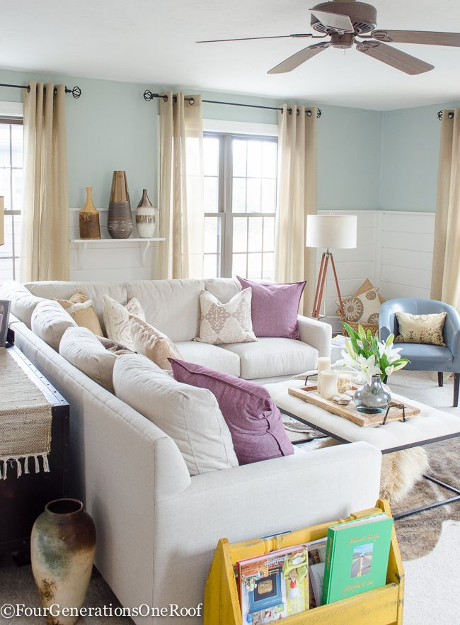 How To Decorate With Pops Of Color Our Living Room