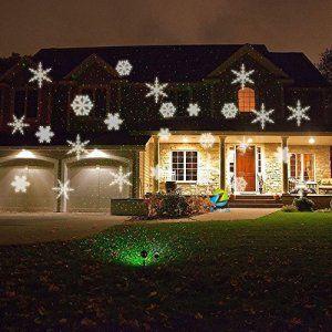 Star Shower lumière LED Flocons de neige de projection–éclairage de Noël–Lampe de jardin Lampe d'extérieur