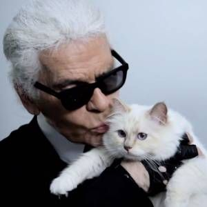 Karl Lagerfeld Expresses Emotion and a Choupette cameo