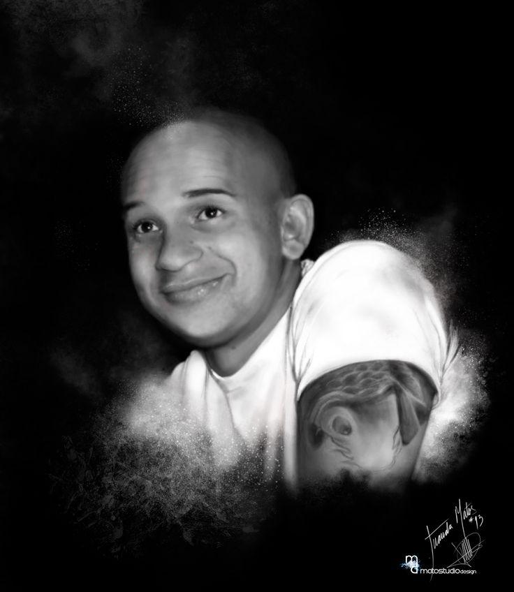My brother.  Nueva illustracion para la serie de retratos en blanco y negro.