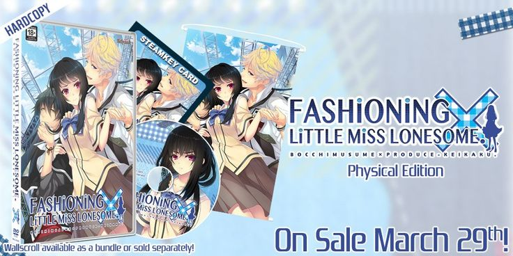 March 29: Fashioning Little Miss Lonesome {physical edition} (PC/Steam)  March 30: Code:Realize ~Future Blessings~ (Vita) & Code:Realize ~Bouquet of Rainbows~ (PS4) {Limited Editions available too. Vita LEs are typically sold out at most retailers.} pic.twitter.com/kwrjnuWBeU