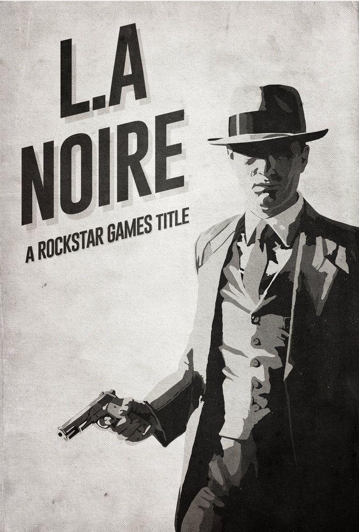L.A Noire - Minimalist Poster by disgorgeapocalypse on DeviantArt