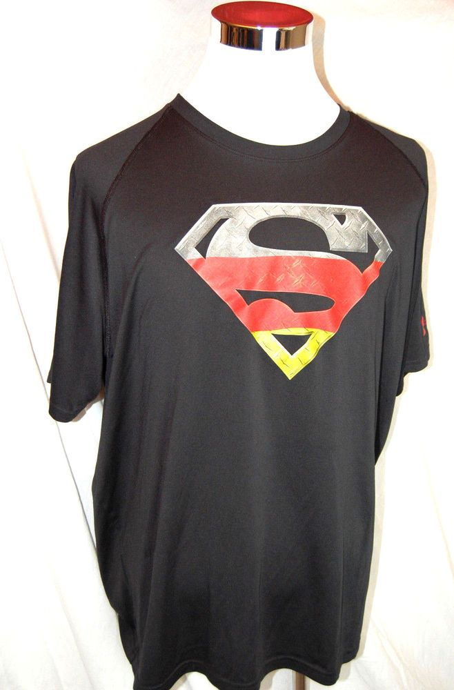 3d9a90470abb Under Armour Superman Germany T Shirt 2XL XXL Mens Loose Fit  UnderArmour   ShirtsTops