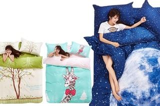 World Series Sheet and Quilt Set in Choice of Three Designs, Single ($39), Double ($49) or Queen ($59)