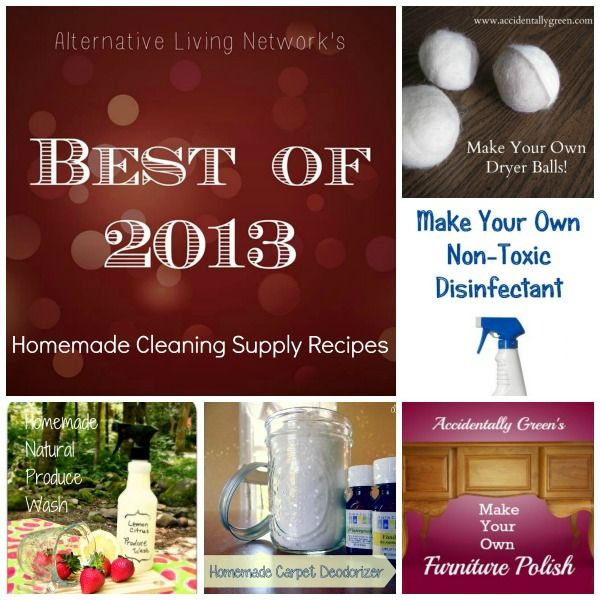 Best Cleaning Supply Recipes of 2013