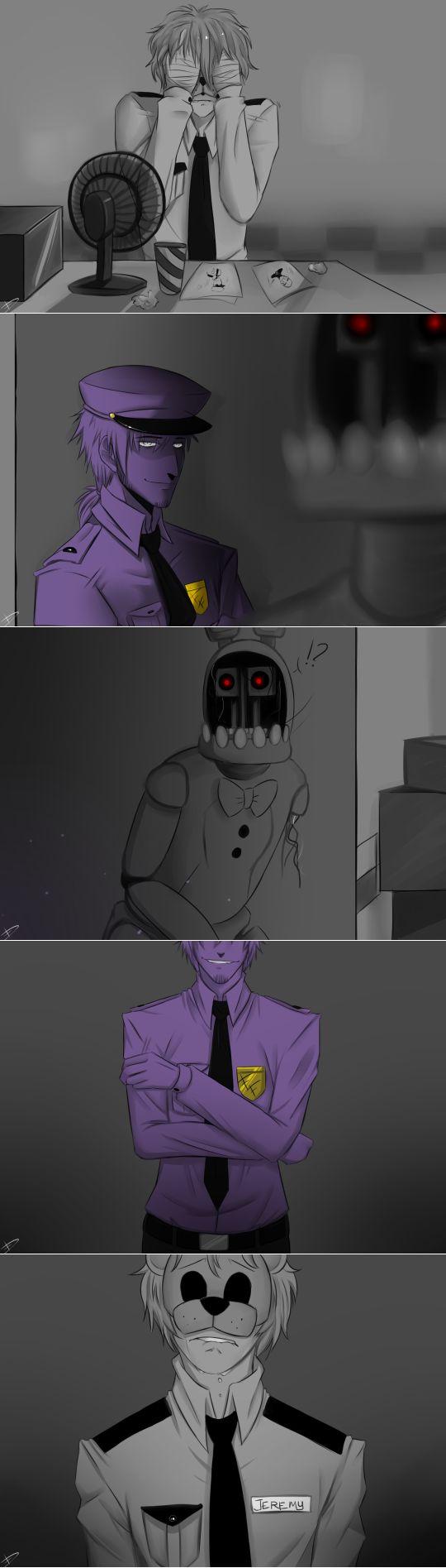 Purple Man and Bonnie