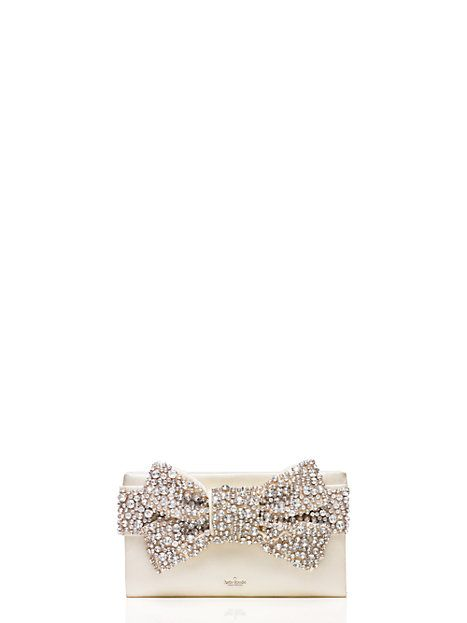 Kate Spade - Madison Avenue Collection | wedding belles Lucinda clutch purse with crystal embellished bow