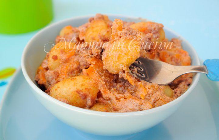 Gnocchi con carote ricotta e carne ricetta veloce
