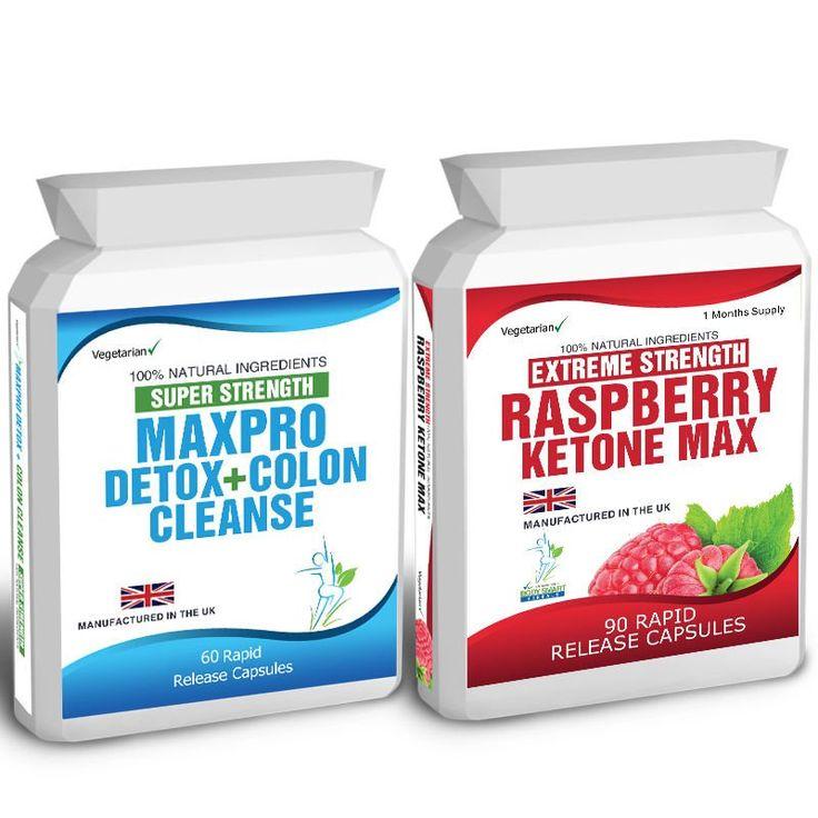 90+Raspberry+Ketone+Plus+60+Colon+Cleanse+Weight+Loss+Slimming+Diet+Pills+Max